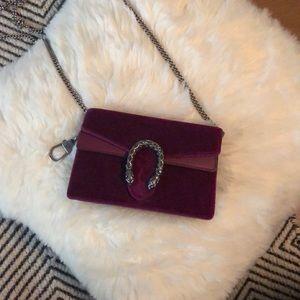 Gucci Purple Velvet Super Mini Dionysus Bag